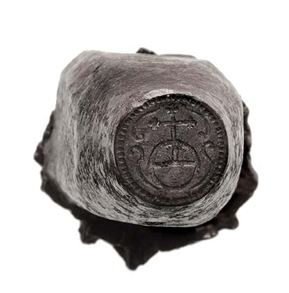 Lot 343 - *Coin(?) die: an iron die, probably Austro-Hungarian and early 18th century, with cross on orb