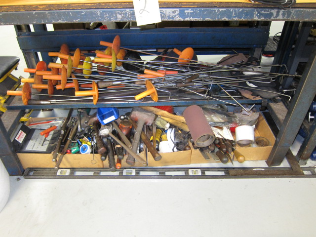Lot 29 - LOT OF HAND TOOLS, assorted (located under five benches)