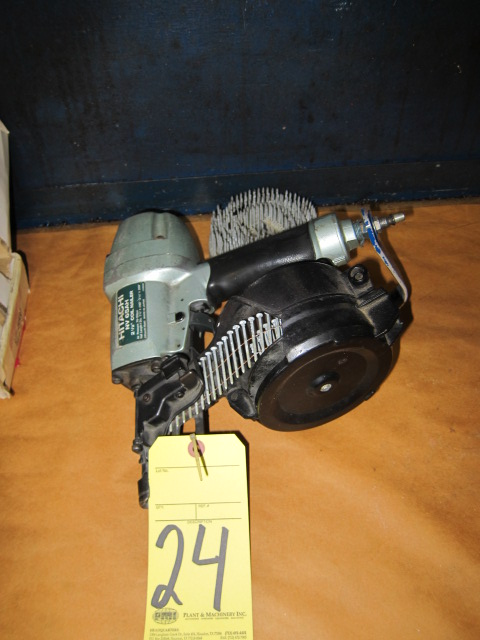 Lot 24 - PNEUMATIC NAIL GUN, HITACHI MDL. NV65AH