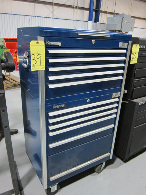 Lot 39 - PORTABLE TOOLBOX, KENNEDY, 10-drawer