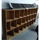 """Paper Parts Manuel Holder w/ Cubby Shelves 84"""" x 44"""" x 12.5"""""""