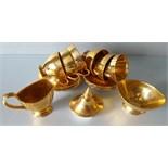 Antique Vintage Royal Winton Golden Age Cups Saucers Milk Jug & Sugra Bowl