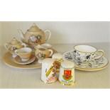Antique Vintage Dolls Tea Service Dolls Tea Cup & Saucer & Thimbles NO RESERVE