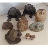 Vintage Retro Parcel of 9 Collectable Owl & From Figures NO RESERVE