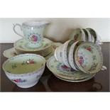 Vintage Retro 21 Pieces Shelley China Tea Cups Saucers Side Plates Milk & Sugar Crochet Pattern