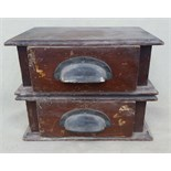Antique Vintage Wood Box with Two Drawers NO RESERVE