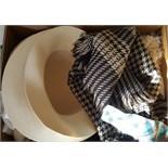 Antique Vintage Retro Box of Assorted Hats Fabrics & Lace NO RESERVE
