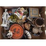 Vintage Box of Ceramics Includes Royal Doulton Character Jugs Royalty Commemorative Ware NO RESERVE