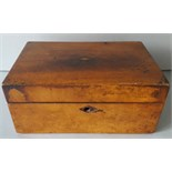 Antique Early 1900's Jewellery Box Inlaid Top