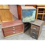 Vintage Retro 3 x Metal Cabints & Drawers NO RESERVE