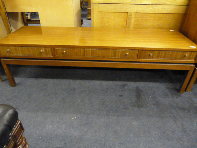 Teak Coffee Table With 3 Drawers