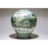 A large Chinese doucai landscape vase, Qianlong mark, 19/20th C. H.: 47 cm Condition reports and