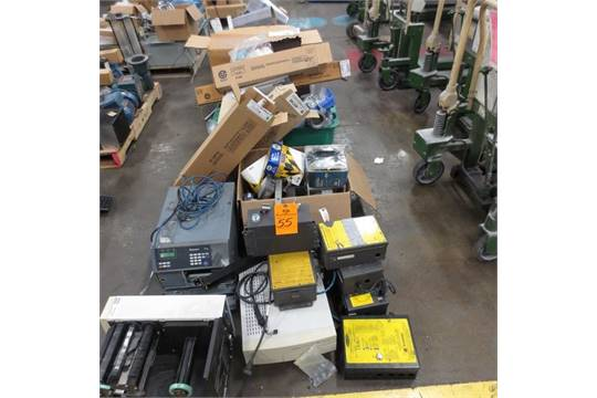 Row of Electrical Parts , Banner Light curtains, Gages, Light bulb ...