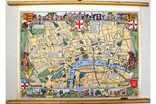 John Bartholomew 1950 Children's Map Of London This Eyecatching: Children S Map Of London At Infoasik.co