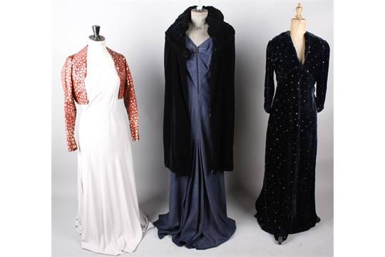 1920s Velvet Evening Dresses