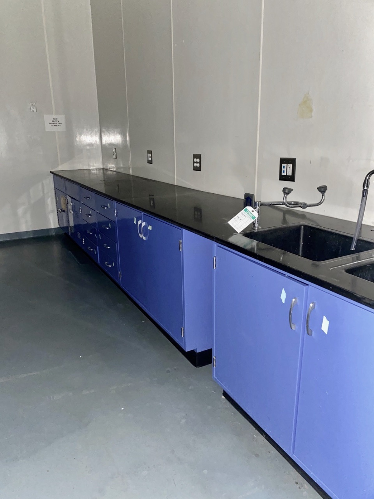 Lot 21 - Two Sets of Lab Cabinets with (1) Sink | Load Fee: $500