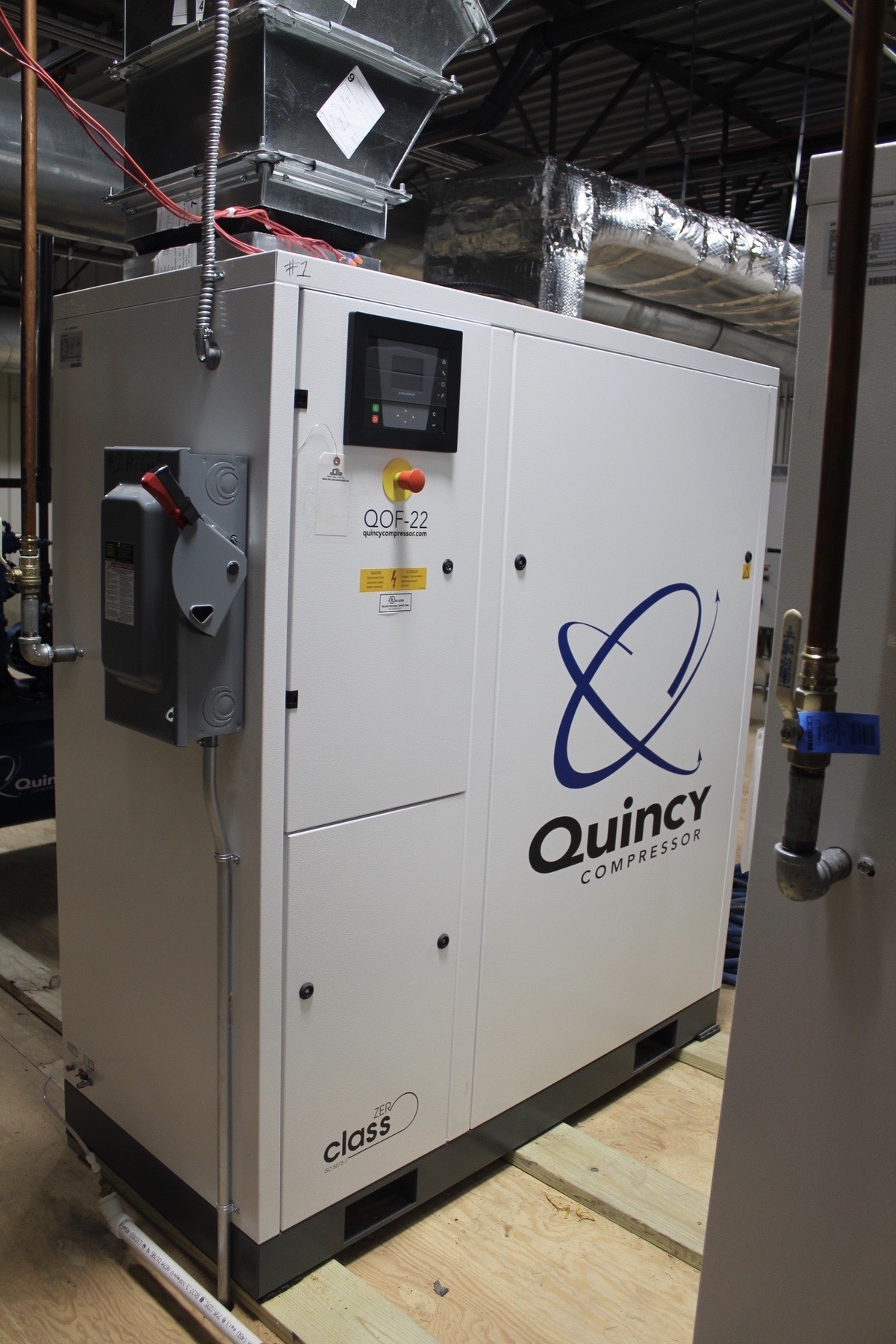 Lot 2 - Quincy ZER Class Rotary Screw Air Compressor, M# QOF-22, Type SPR22, S/N AP1771444, | Load Fee: $500