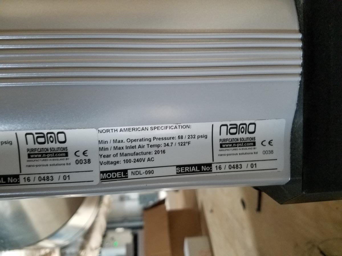 Lot 3 - Nano Refrigerated Air Dryer, M# NDL-090, S/N 16/0483/01 | Load Fee: $150