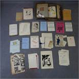 A collection of early 20th century theatre ephemera
