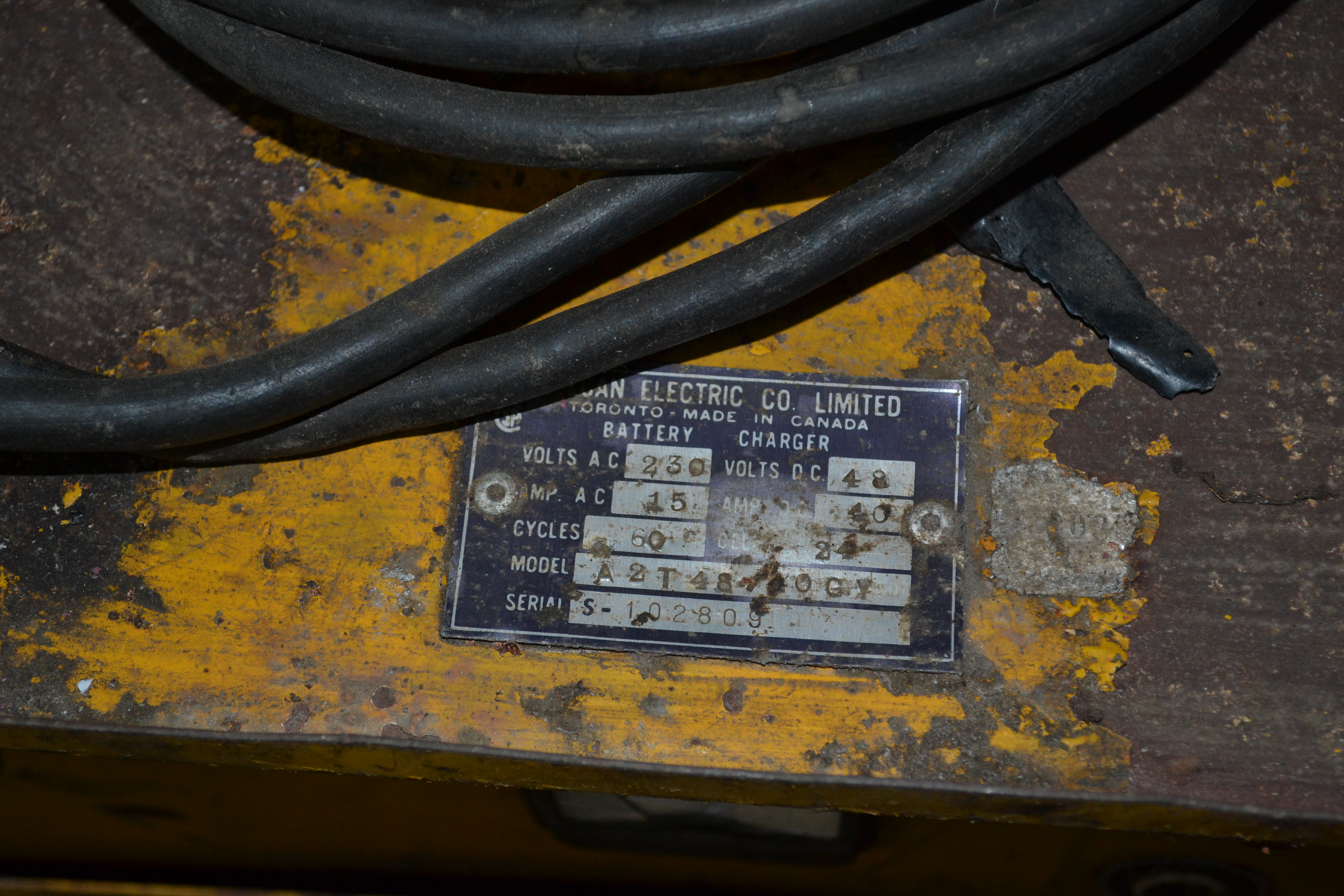 Lot 3 - Vulcan Fork Lift Charger 230 VAC / 48V D.C.