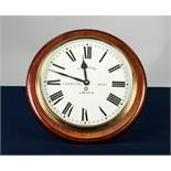 "A.F. WILSON, LINCOLN, MODERN BATTERY POWERED REPRODUCTION WALL CLOCK, 13"" (33cm) diameter"