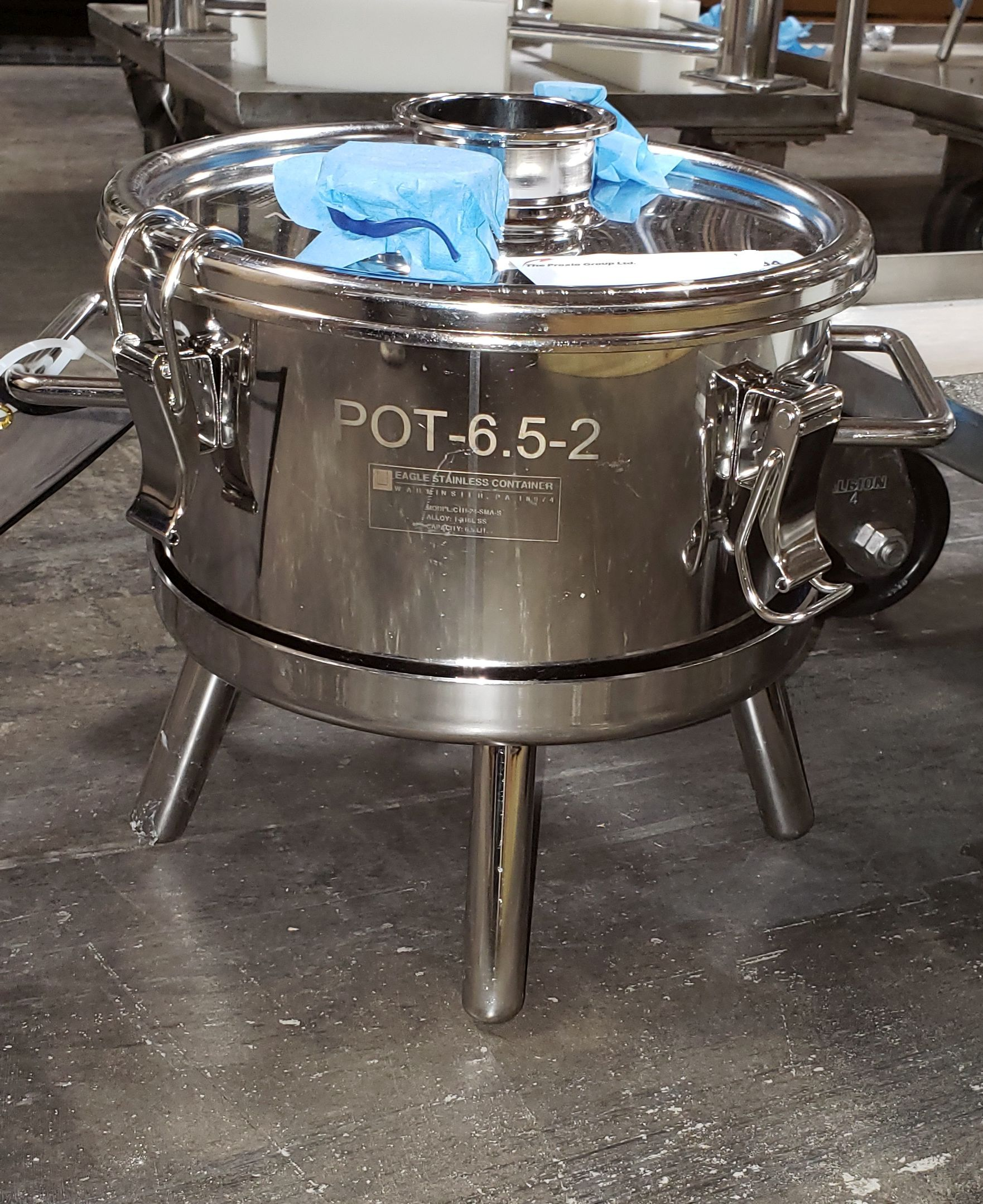 Lot 84 - Eagle 316L Stainless Steel Tank, 6.5 L cap