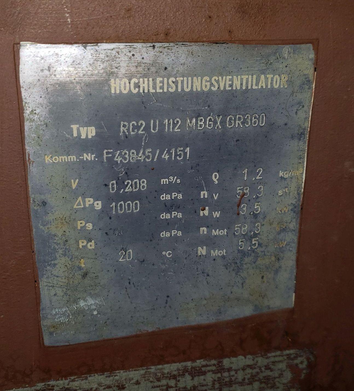 Lot 236 - Hochleistungsventilaor, 480 V, 3 phase blower, 7.5kW