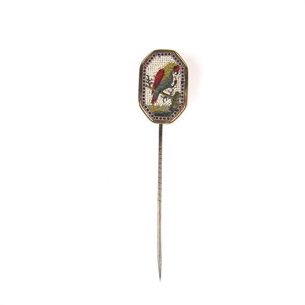 Micro mosaic parrot pin. - Image 2