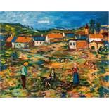 Ernst Huber* Red landscape