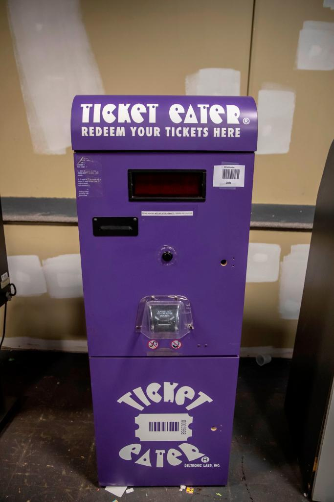 Lot 208 - Deltronic Ticket Eater. Functional. Used, shows commercial use. See pictures.