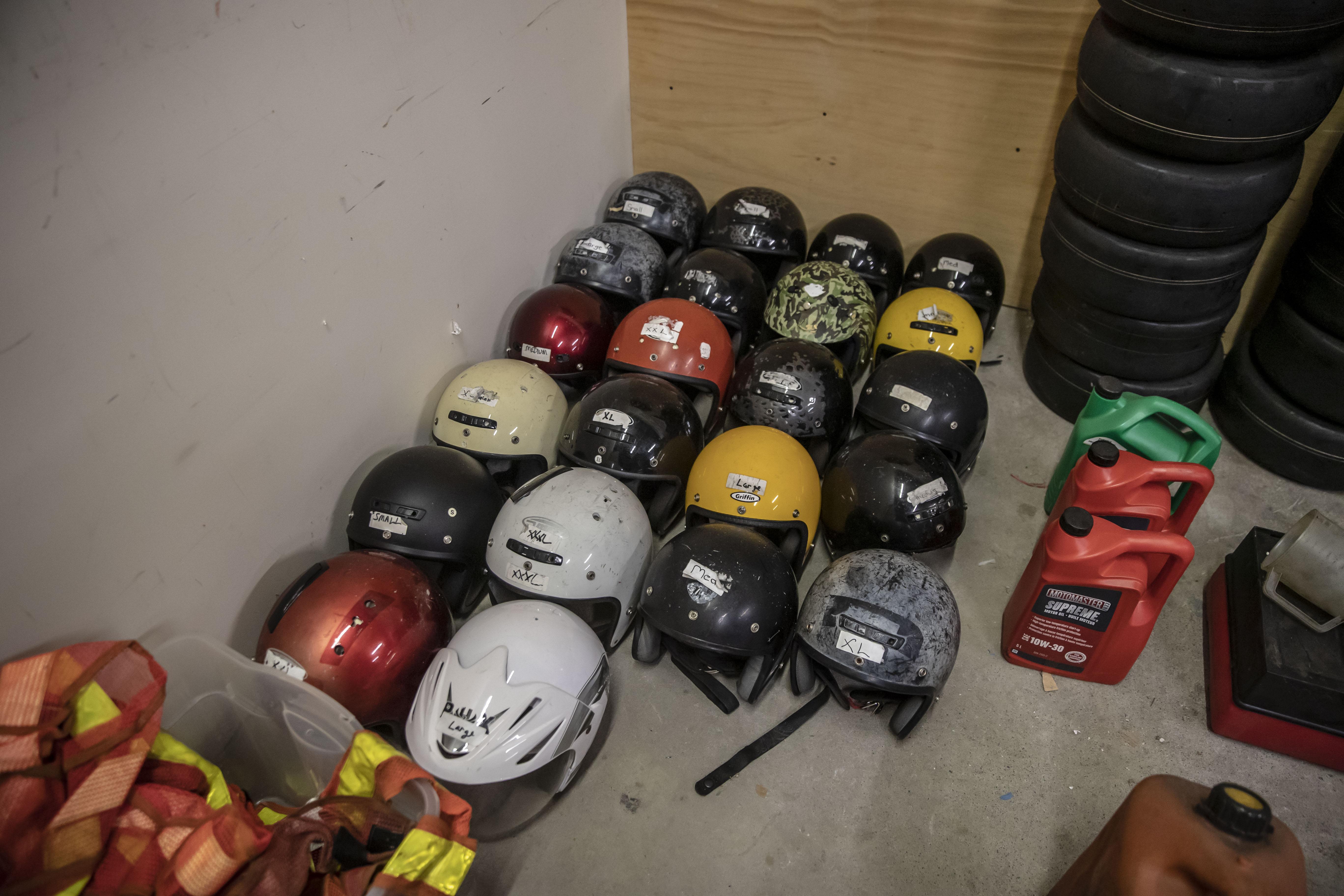 Lot 177 - Go Cart Parts plus Helmets