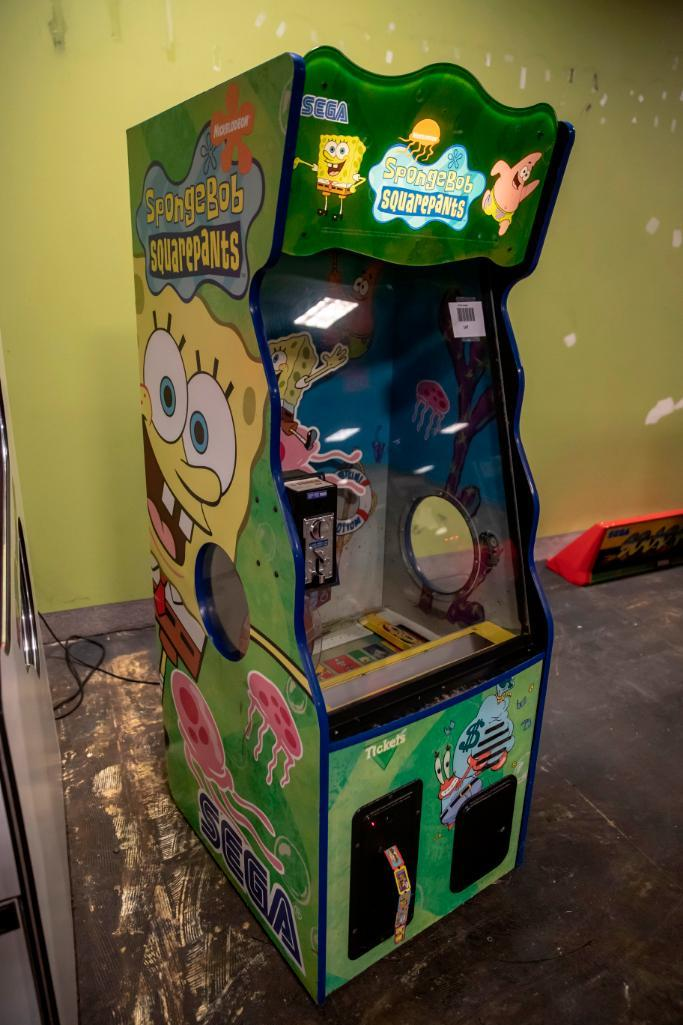 Lot 147 - SpongeBob by Sega - Functional. Used, shows commercial use. See pictures.