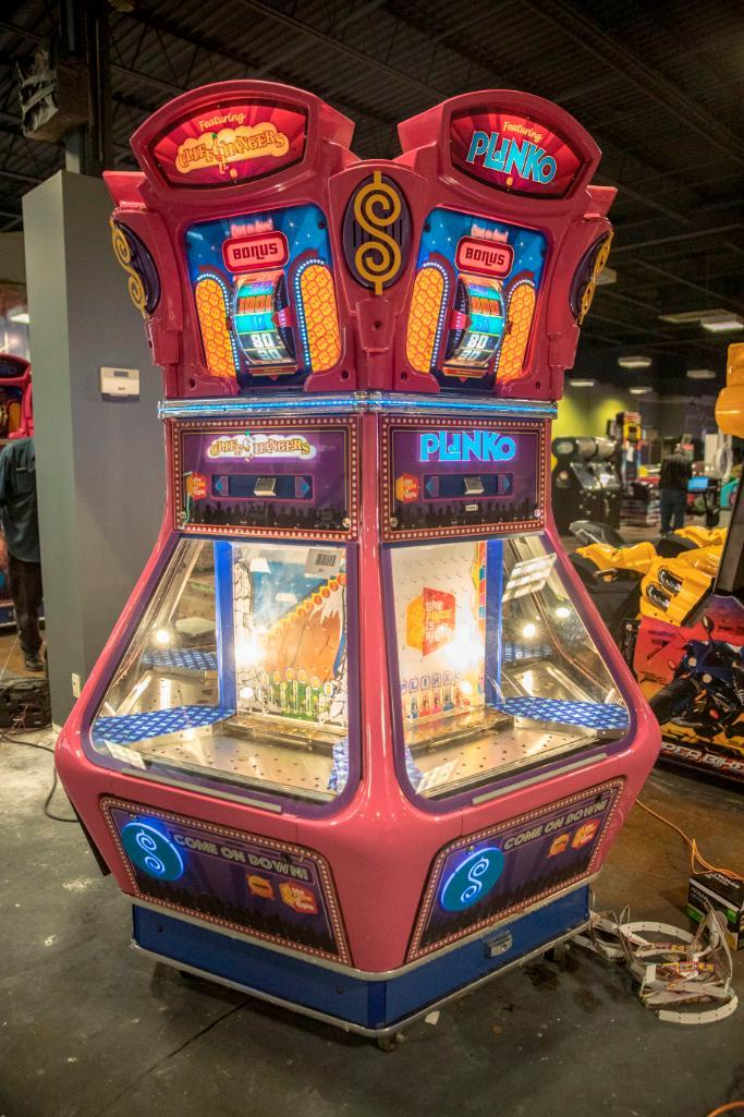 Lot 152 - Price is Right Six Player Pusher - Functional. Used, shows commercial use. See pictures.