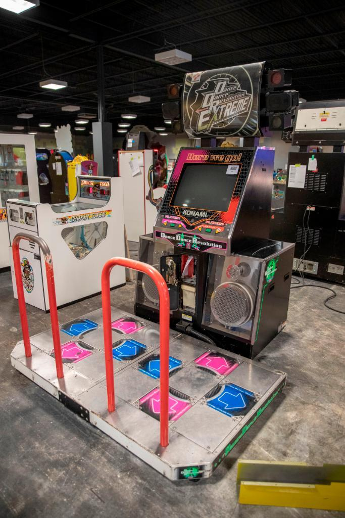 Lot 186 - Dance Dance Revolution - Functional. Used, shows commercial use. See pictures.