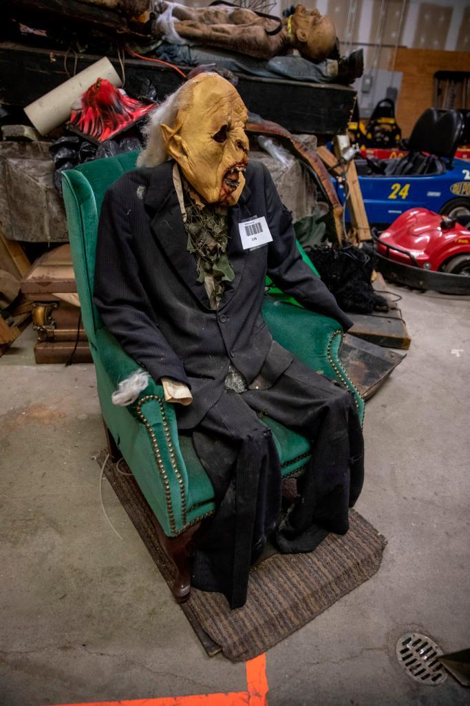Lot 178 - Seated Zombie. Used, shows commercial use. See pictures.