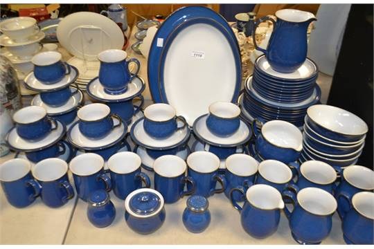 A comprehensive Denby Colonial Blue dinner and tea service ...