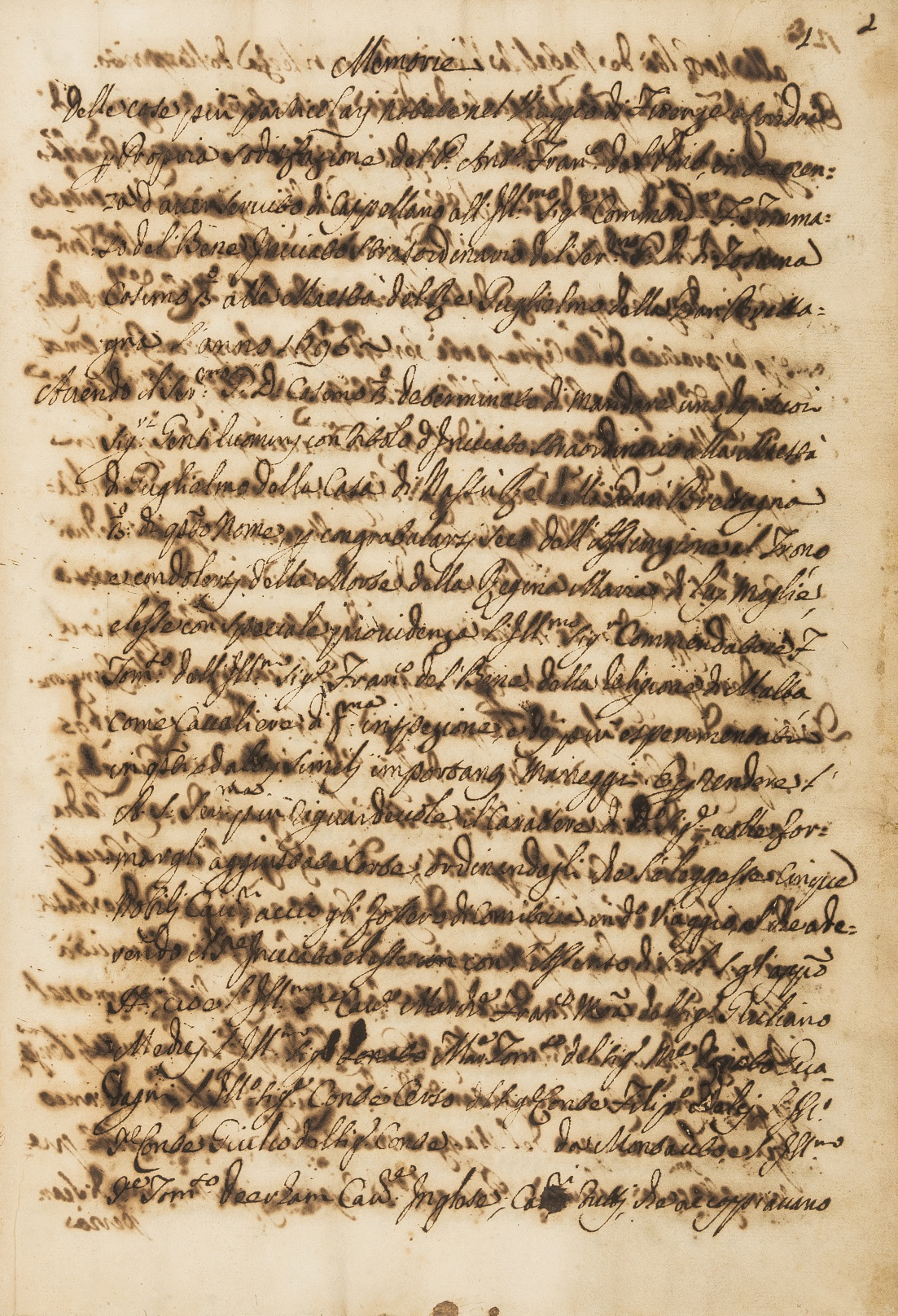 Recognition of William III as King.- Pino (Pietro Francesco dal, Chaplain to Tommaso del Bene, …