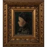Maler des 20. Jhs.. Kinderportrait. Öl/Holz, gerahmt, 14,5 x 11 cm.