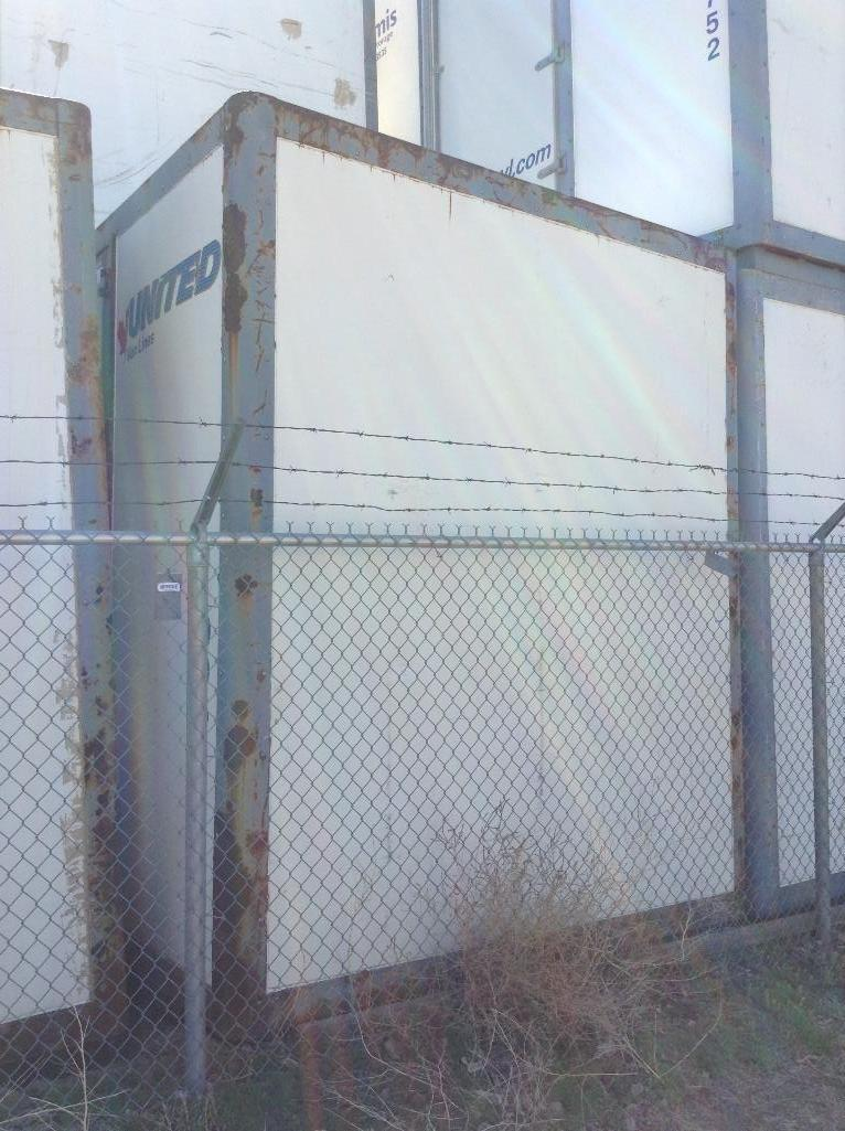 Lot 149 - Storage POD Container with door ( approx. 8x9.5x10) fiberglass and metal construction.stackable.