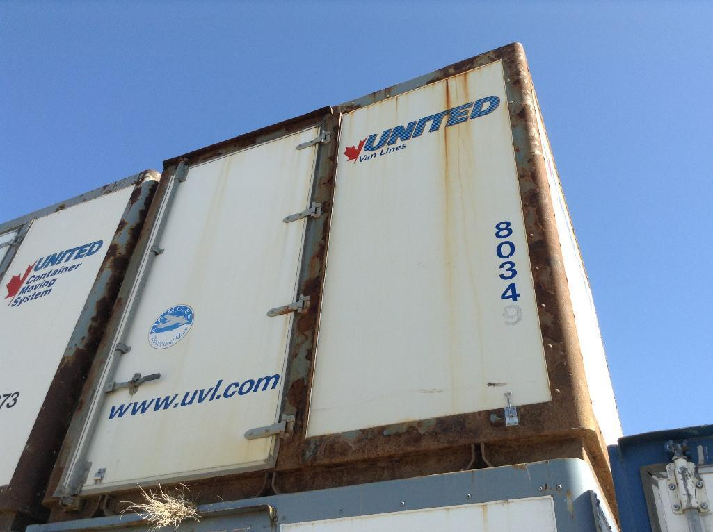 Lot 126 - Storage POD Container with door ( approx. 8x9x9) fiberglass and metal construction.stackable.UNIT#8
