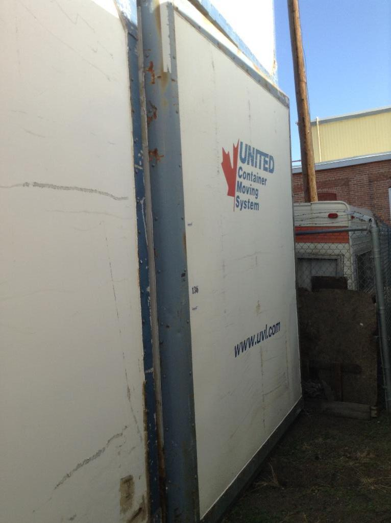 Lot 136 - Storage POD Container with door ( approx. 8x9.5x10) fiberglass and metal construction.stackable.