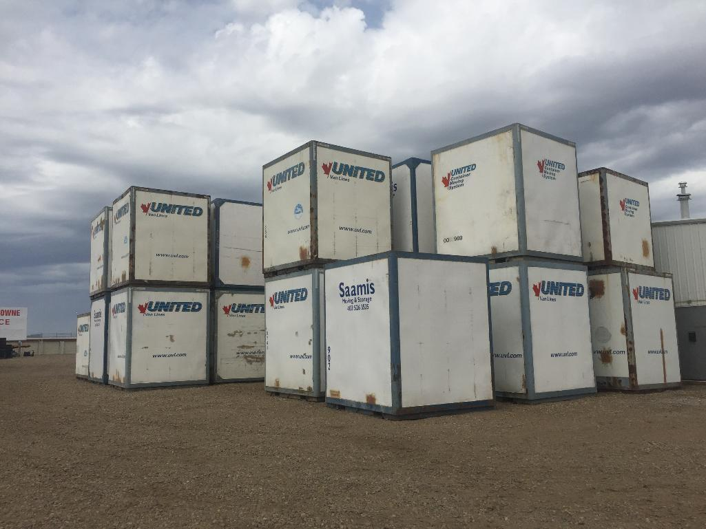 Lot 106 - Storage Container ( 8x9x10approx) includes contents of assorted moving supplies & accessories