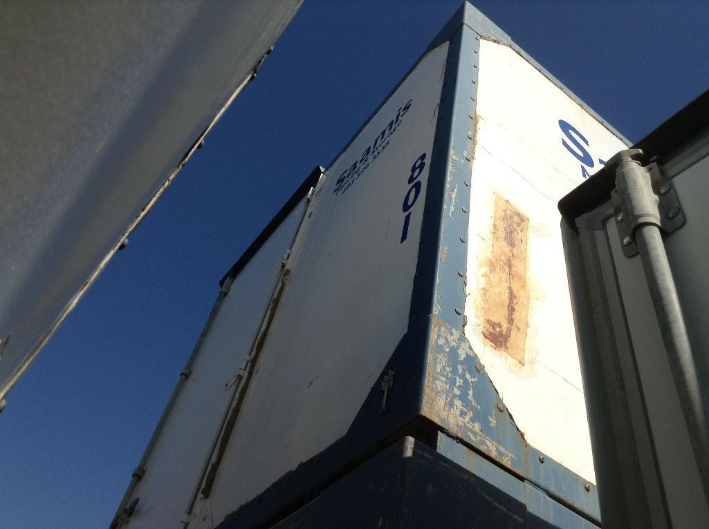 Lot 130 - Storage POD Container with door ( approx. 8x9x9) fiberglass and metal construction.stackable.