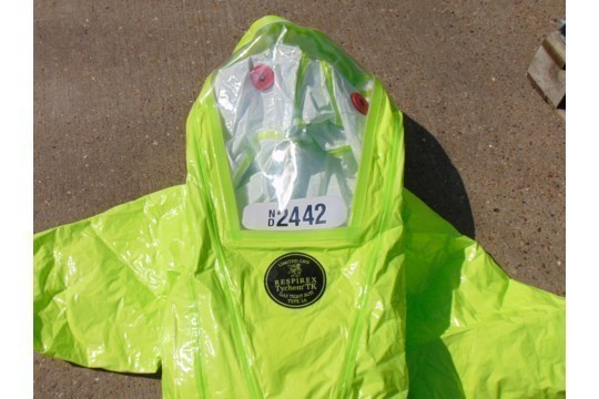 Lot 26805 - Q10 x Unissued Respirex Tychem TK Gas-Tight Hazmat Suit. Size XL
