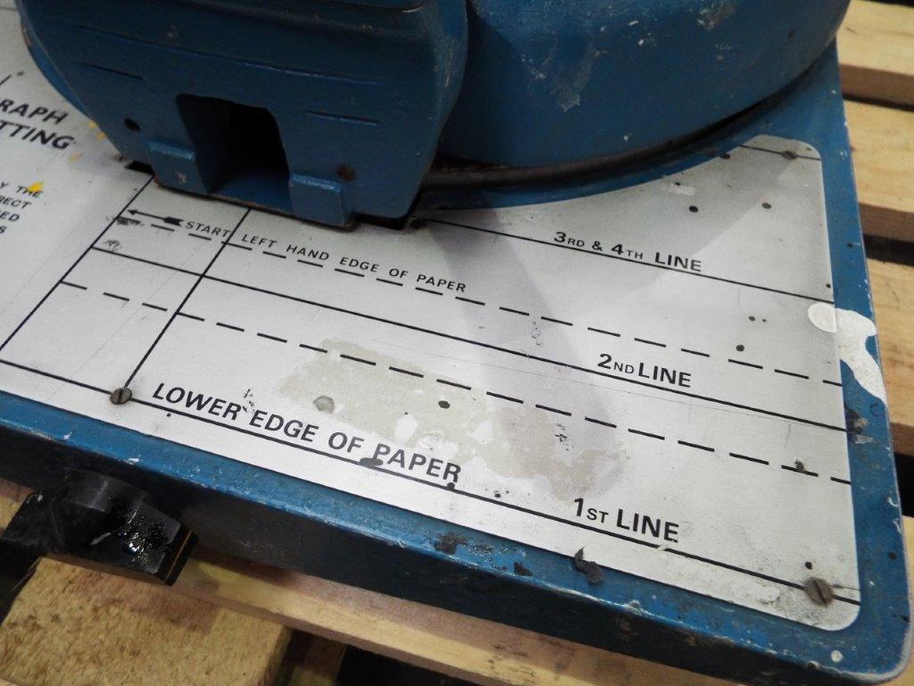 """Aultograph 1"""" Stencil Cutting Machine Fed - Image 4 of 6"""