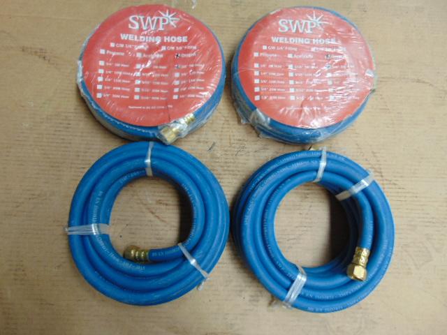 "Lot 24489 - 4 x SWP 3/8"" 5m Oxygen Welding Hoses"
