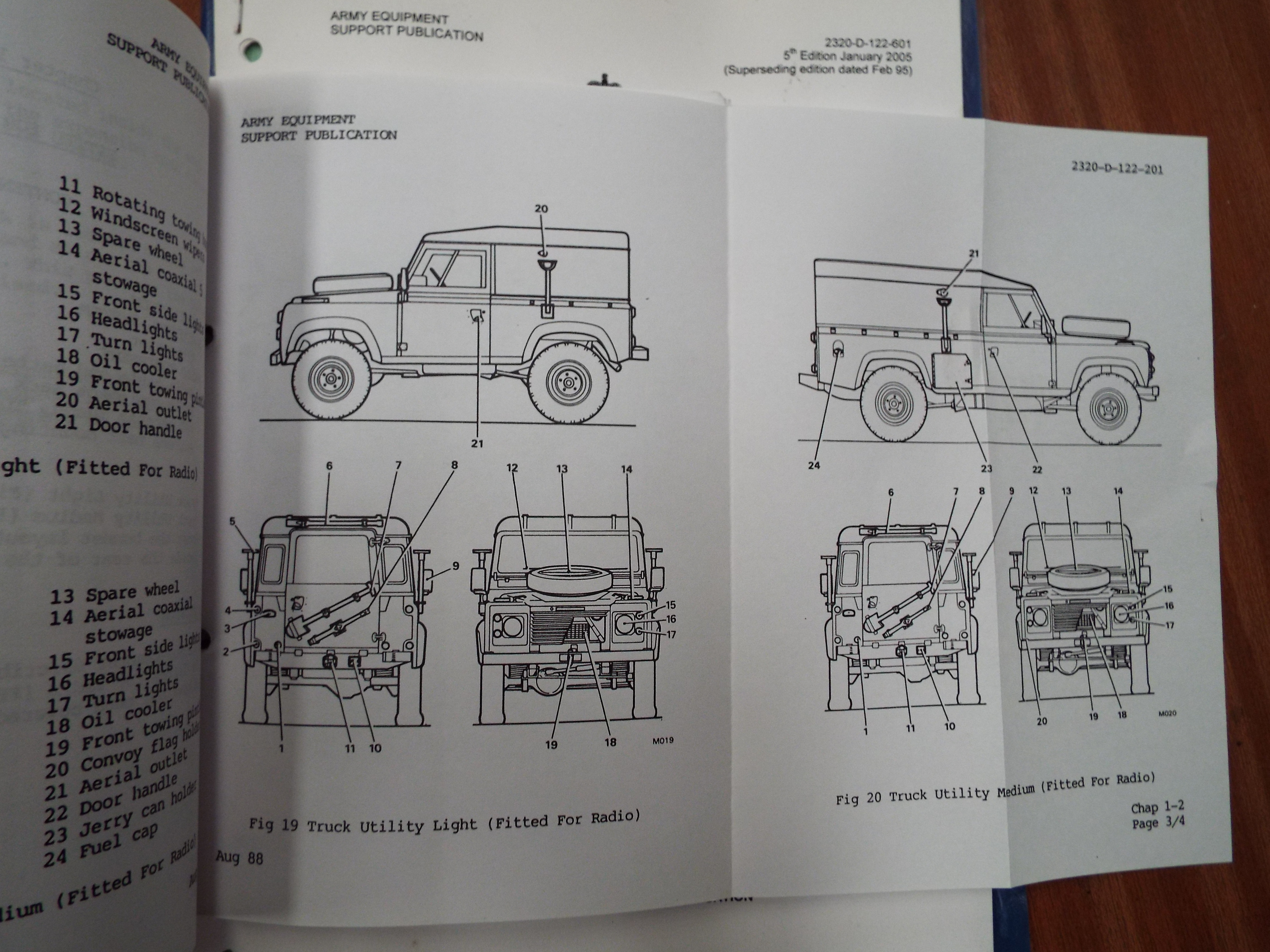 Lot 15152 - Extremely Rare Military Land Rover 90/110/127 Operating Manual with Maintenance Schedule