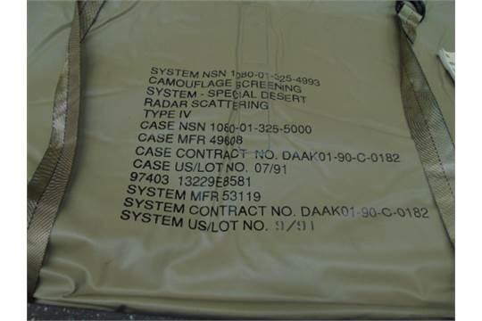 Lot 26792 - Unissued AFV Desert Vehicle Camouflage System