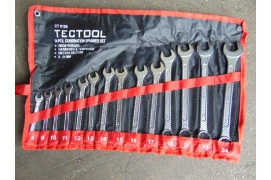 Lot 26587 - Unissued Tectool 14 pcs Combination Spanner Set