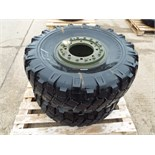 Lot 13610 - 2 x Michelin XML 325/85 R16 Tyres with 8 Stud Rims